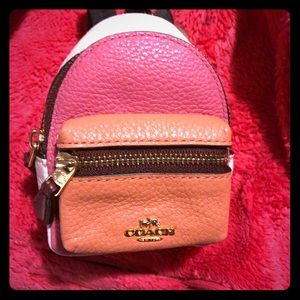 Coach mini backpack keychain- new with tags.